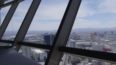 Looking down on Las Vegas strip - stock footage