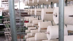 Several white wool rools Stock Footage