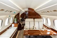 Luxury interior aircraft business aviation - stock photo