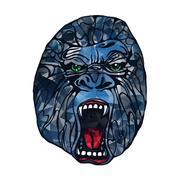 Growling gorilla tattoo Stock Illustration