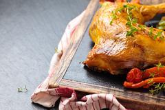 Chicken leg. Stock Photos