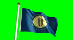 Kentucky flag (with green screen) Stock Footage