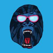 Stock Illustration of Growling gorilla tattoo