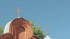 Gate to Spaso-Preobrazhensky Cathedral in the city of Nizhny Novgorod - stock footage
