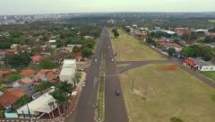 Aerial - Foz do Iguaçu - Street - City Stock Footage