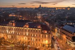 Aerial view of Vilnius, Lithuania - stock photo