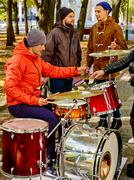 Stock Photo of Performance of street musicians