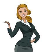 business woman - stock illustration