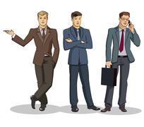 Businessman group standing - stock illustration