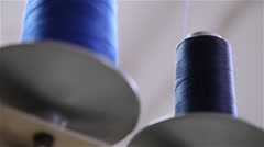 Stock Video Footage of blue wool rools