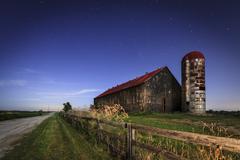 Moonlight farm Stock Photos