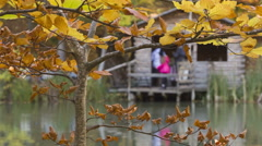 Rest in the guest house on the lake Stock Footage