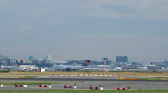 Frankfurt airport traffic Stock Footage