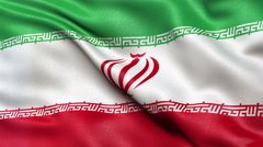 4K Iran flag seamless loop Ultra-HD Stock Footage