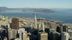 Aerial view San Francisco Cityscape Transamerica Pyramid Stock Footage