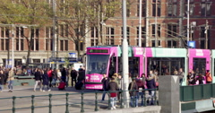 Amsterdam Central Station Netherlands public transport Stock Footage
