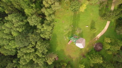 Amazing top view of Emumagi with green trees Stock Footage