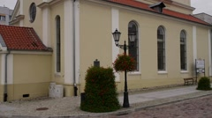 Post-evangelical church in Sztum, Poland Stock Footage