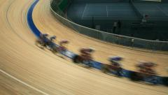 Cycling races on the track Stock Footage