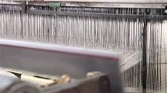 Industrial loom working Stock Footage
