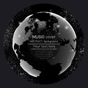 Music album cover templates. World globe, global network. Molecule structure Stock Illustration