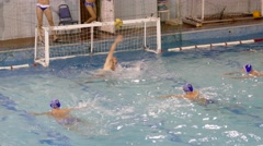 Water Polo, Attack, Swimmers Stock Footage