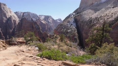 Zion National Park and American West Scenery Stock Footage