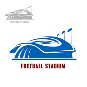 Football or soccer stadium building icon Piirros