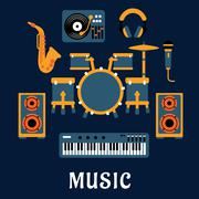 Musical instruments and sound equipment Stock Illustration
