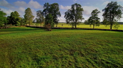 The wide green grassfield in Palsme Estonia Stock Footage