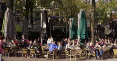 Amsterdam hospitality terrace 4K Stock Footage