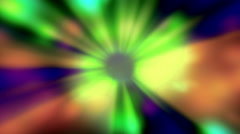 Rainbow Sunburst Blinking Colored Rays Of Lights Background Stock Footage