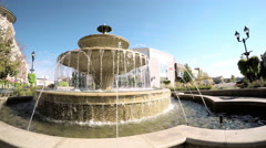 Fountain in the park at Southglenn. Stock Footage