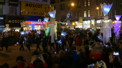 Halloween in New York in 2015 Stock Footage