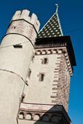medieval Gate of Spalen  in Basel - stock photo