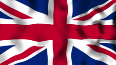Flag Great Britain Seamless Looped Background - stock footage