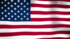 Flag of United States of America Vignette Seamless Looped Stock Footage