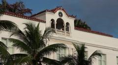 Historic Art Deco buildings on Ocean Drive, Miami Beach, FL Stock Footage