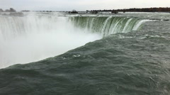 A Slow Motion of the Horseshoe Falls at the brink - stock footage