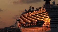 Cruise ship in Miami - stock footage