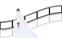 vector film strip multi style - stock illustration