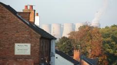 Ratcliffe-on-Soar power station, Nottingham, England - stock footage