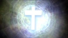 Religion sign to holy moments Stock Footage
