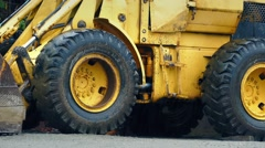 Earth Mover On Site In The Rain Stock Footage