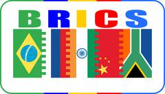 Brics union members national flags Stock Illustration