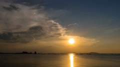 4K UHD Time-lapse of sunset at Si Chang island, - stock footage