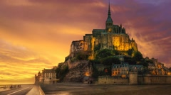 Mont saint michel in france Stock Footage