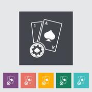 Blackjack flat icon Stock Illustration