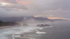 Cannon Beach, Ecola State Park Stock Footage