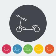 Scooter child flat icon Stock Illustration